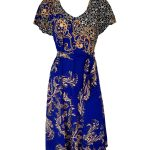 Blue w/ Black & Beige Paisley - Silk