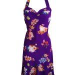 Purple w/ Flowers - Silk