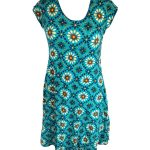 Turquoise Floral One Size