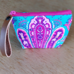 Turquoise & Pink Paisley